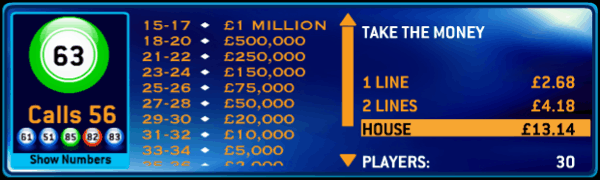 Who Wants to be a Millionaire Bingo Jackpot