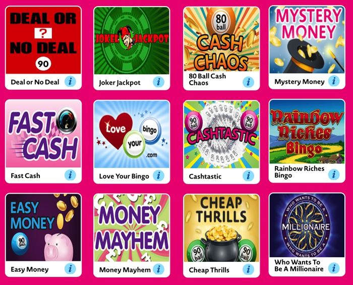 Bingo Games at Love Your Bingo