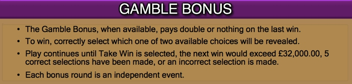 Lost Island Gamble Bonus