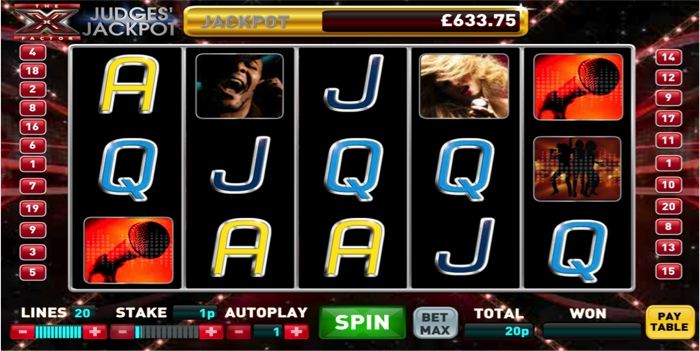 X Factor Judges' Jackpot Slot