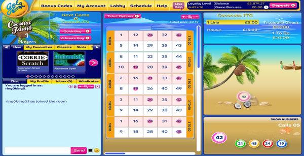 Gala Bingo 50 ball