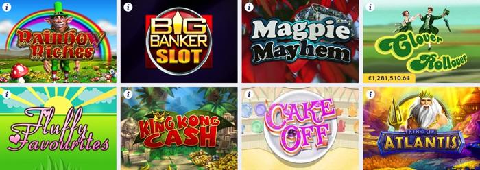 Side Games and Slots at Gala Bingo