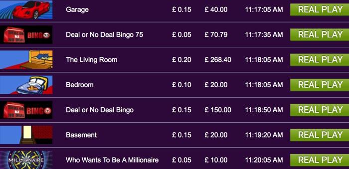 Bingo Games at Ladbrokes Bingo