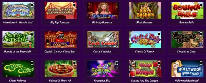 Side Games and Slots at Ladbrokes Bingo